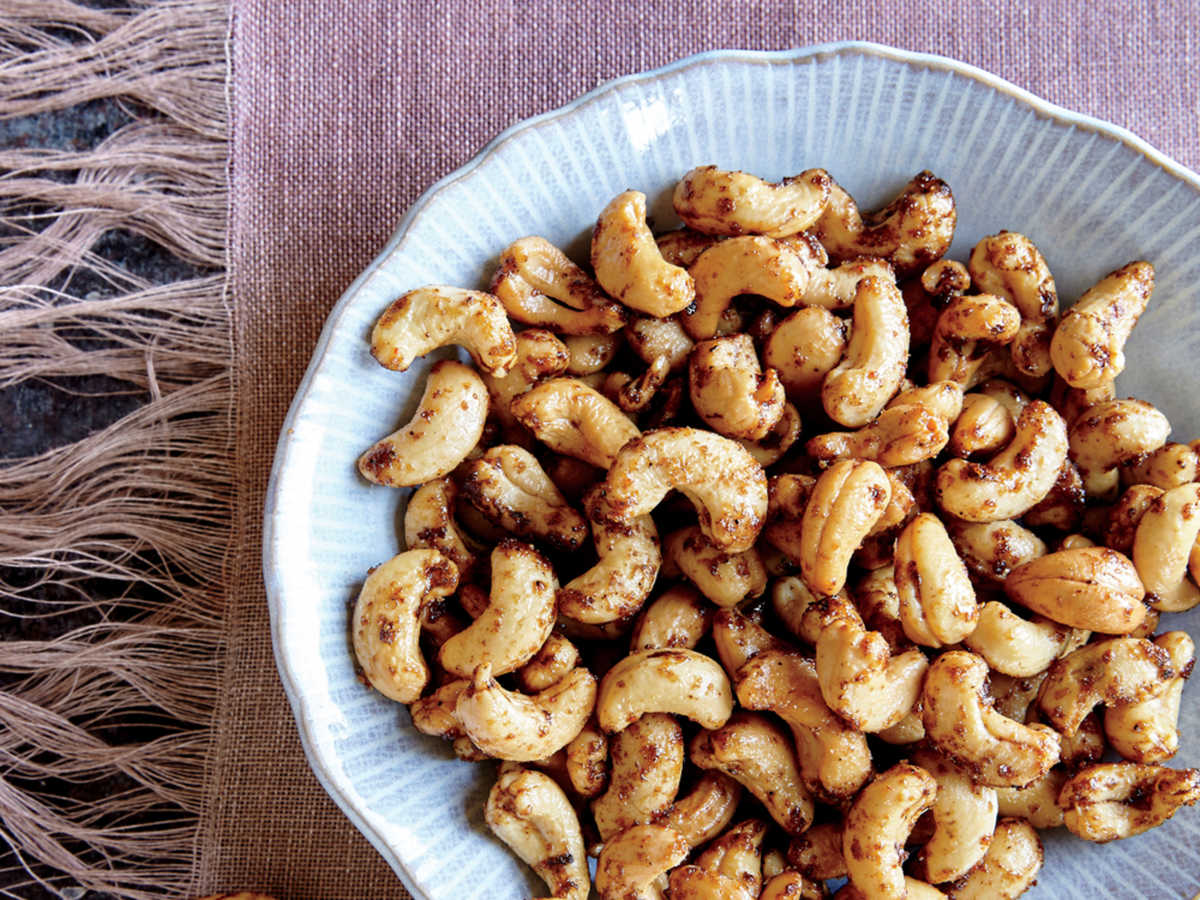 Chinese five-spice powder lends a distinct toastiness to these sweet and savory nuts. They're perfect to whip-up as a quick make-ahead, crowd-pleasing appetizer for holiday entertaining.