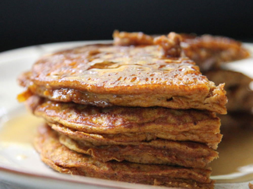'Tis the season to whip up pumpkin-spiced everything including these delicious pancakes. With just 3 ingredients and a sprinkle of spice for flavor, you'll have an aromatic fall treat that's ready in a flash!