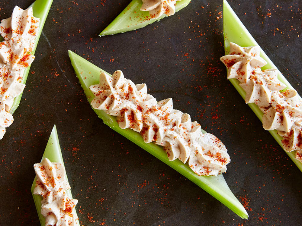 Spicy Peanut Butter-Stuffed Celery Sticks