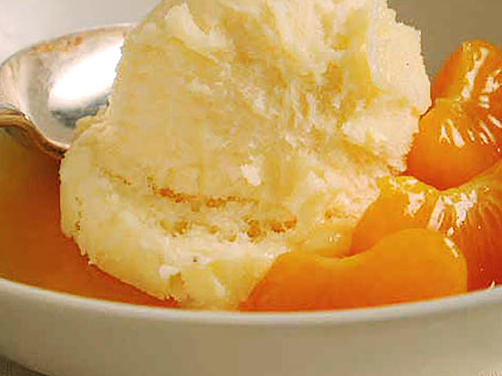 1511 White Chocolate Sorbet with Warm Clementine Sauce