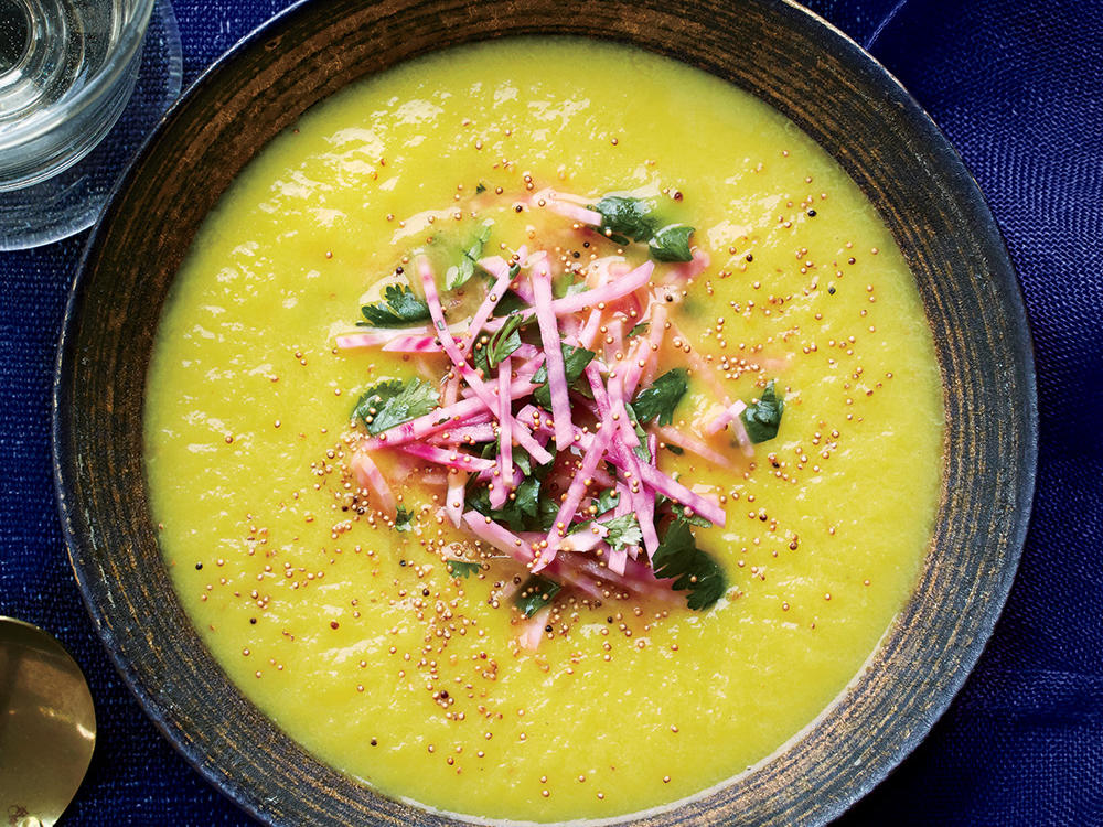 Golden Beet Soup with Toasted Grains