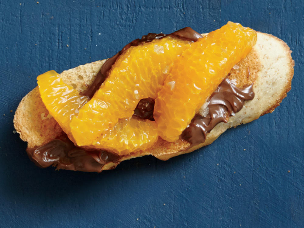 Chocolate-Tangerine Bruschetta
