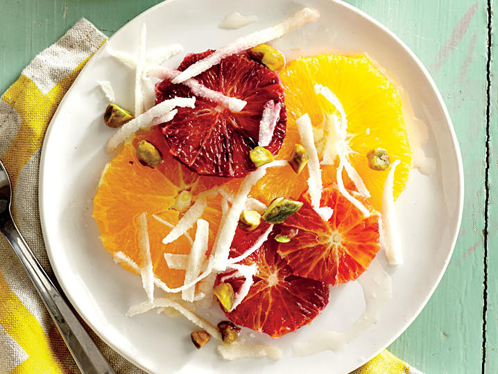 Citrus Salad with Balsamic Honey and Pistachios