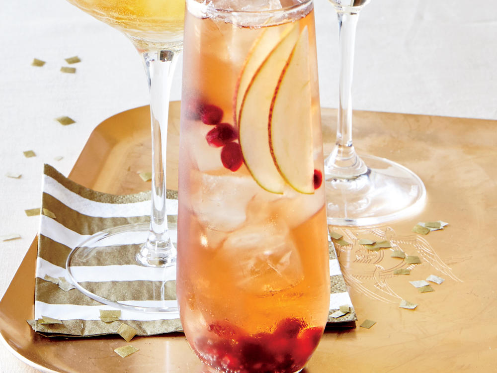 Raise your glass to good friends and family while knocking back this fruity holiday cocktail.
