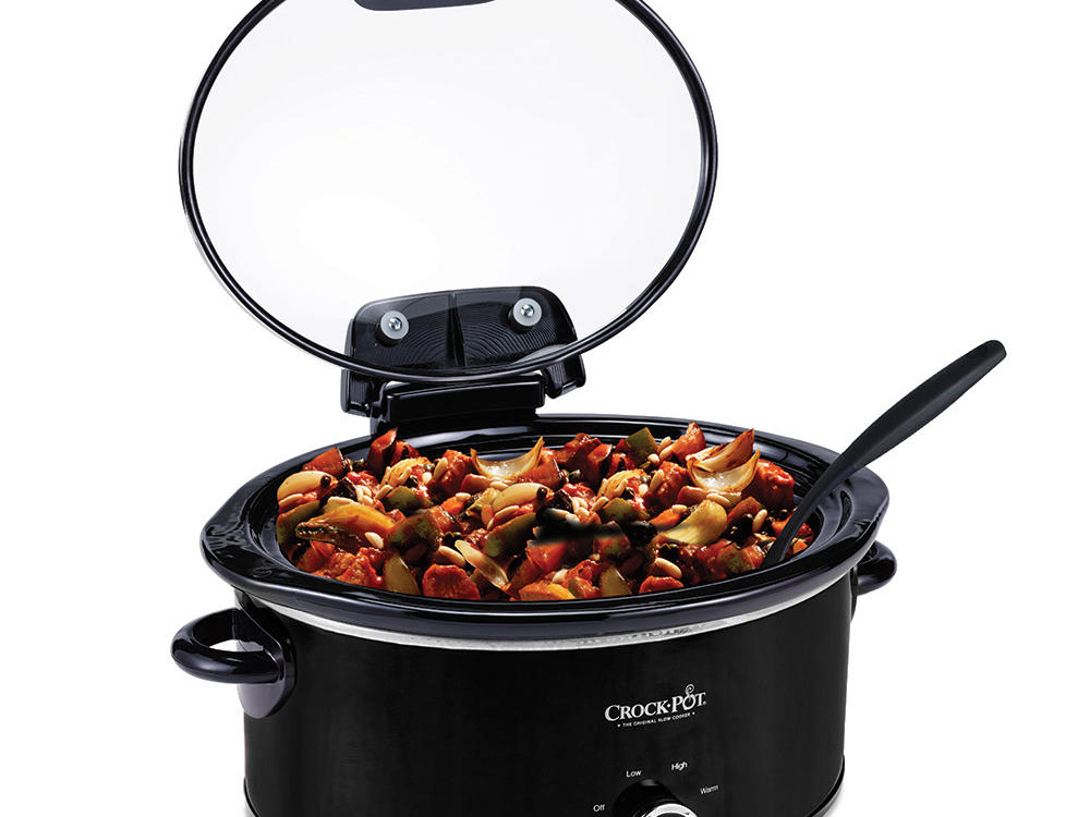 Crock-Pot Lift & Serve Hinged Lid 6-Quart Oval Slow Cooker