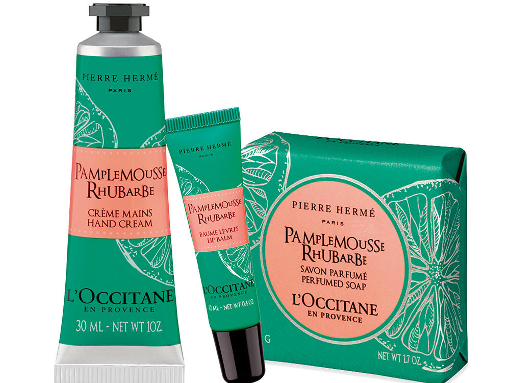 L'Occitane's Pierre Hermé Grapefruit-Rhubarb Travel Set
