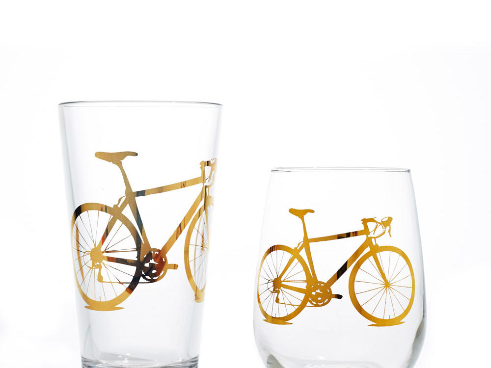 Vital Industries Bicycle Pint and Rocks Glasses