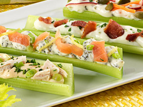 Celery Bites with Assorted Fillings