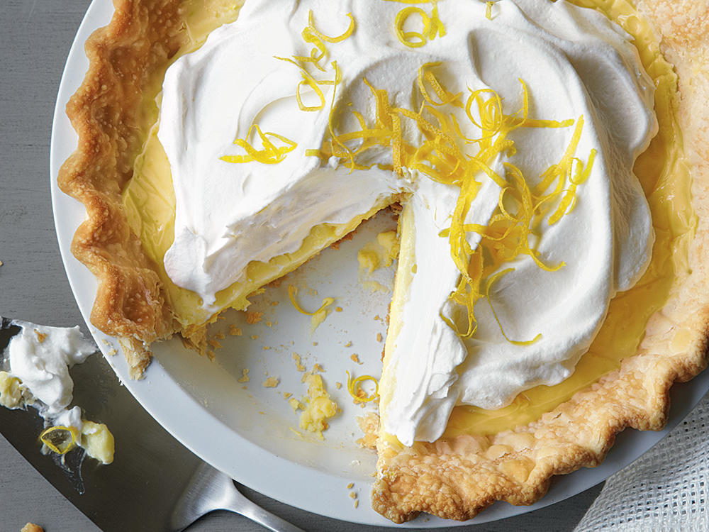 Fluffy, topping, silky filling, and crisp crust: This cream pie is truly dreamy.
