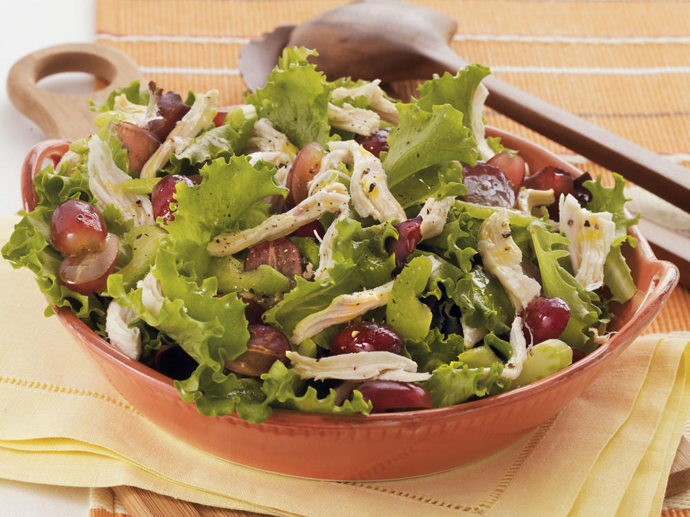 Chicken Salad with Red Grapes and Citrus-Honey Dressing
