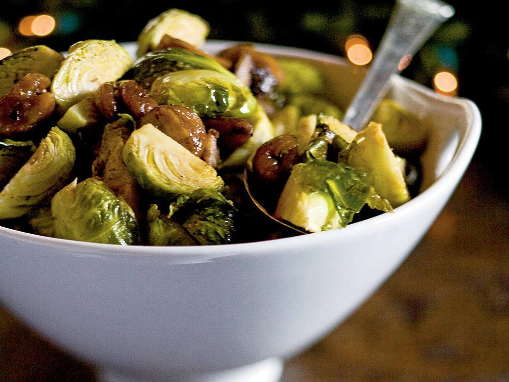 1512 Roasted Brussels Sprouts and Chestnuts