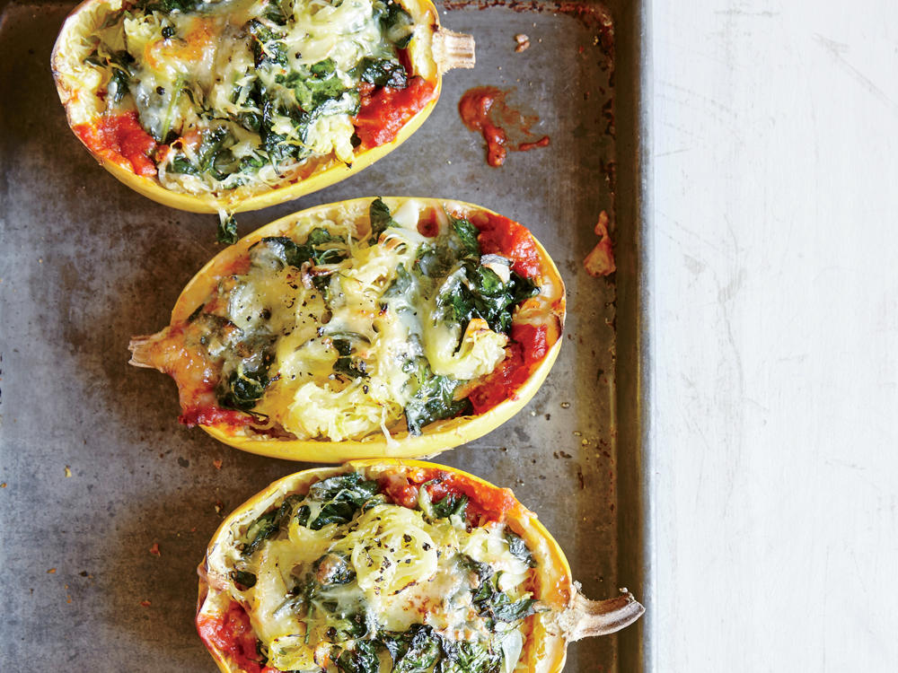 Nix the noodles and try spaghetti squash. Squash noodles transform lasagna into a delightful dinner for less than 400 calories.