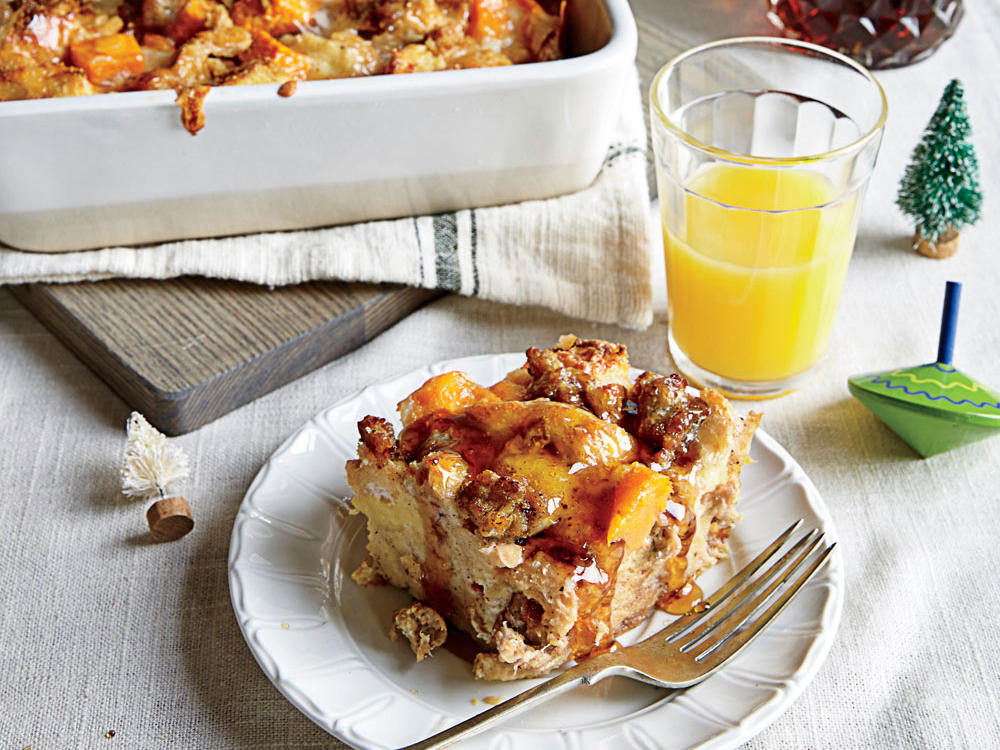 Sweet Potato and Sausage Strata