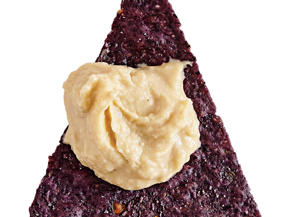 Blue Corn Tortilla Chips with Hummus