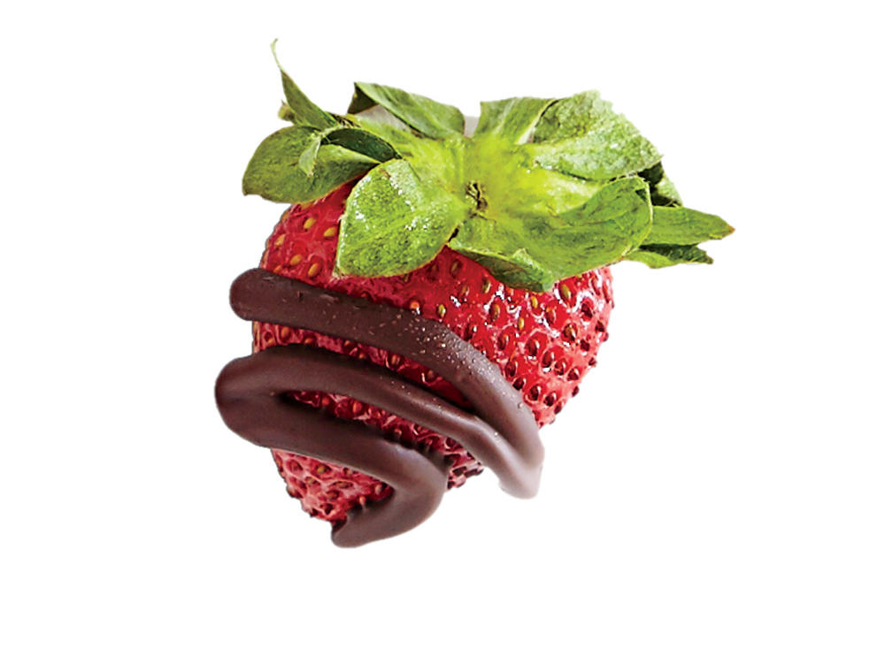 8. Chocolate-Drizzled Strawberries