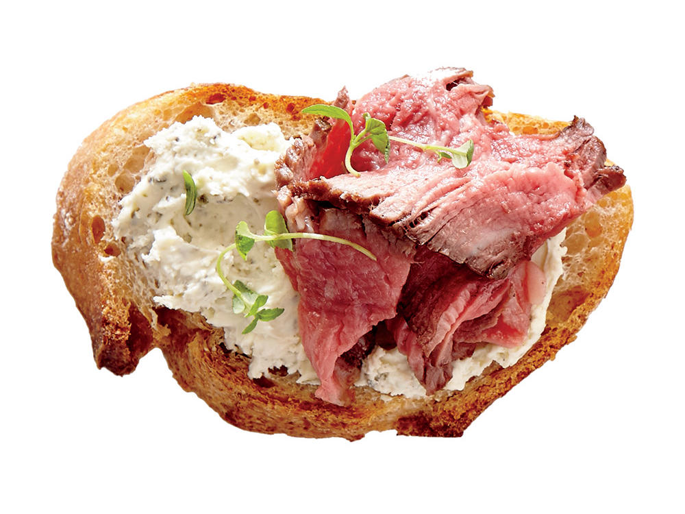 2. Steak & Cheese Crostini