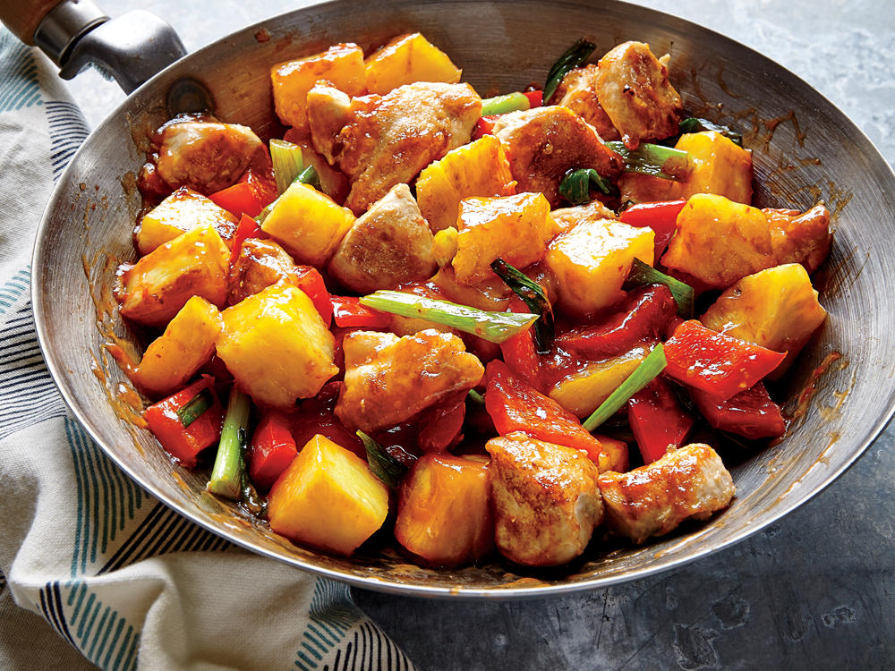 Our take saves 446 calories, 22 grams of fat, and 1,260 milligrams of sodium over one serving of a leading chain's sweet and sour chicken.