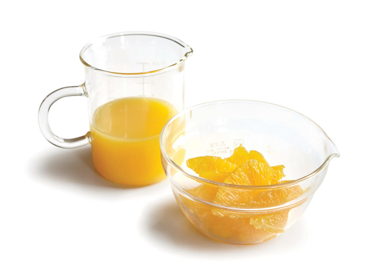 Tip #2: Fresh Orange Juice and Whole Orange