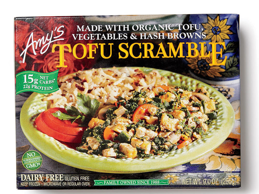 Amy's Tofu Scramble delivers a hefty, delicious serving of veggie-tofu scramble and hash browns. With 22 grams of protein for only 320 calories, you're in good hands with Amy.