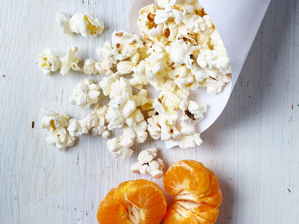 Popcorn and Clementine Wedges