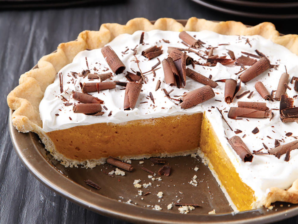 Celebrate the best of fall flavor with this creamy pumpkin pie. This version of the classic Thanksgiving pie is a fluffier, less dense version of the original, so it's perfect for serving at holiday gatherings when you want a crowd-pleaser.