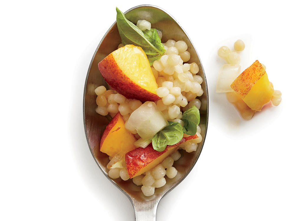 Nectarine and Basil Couscous