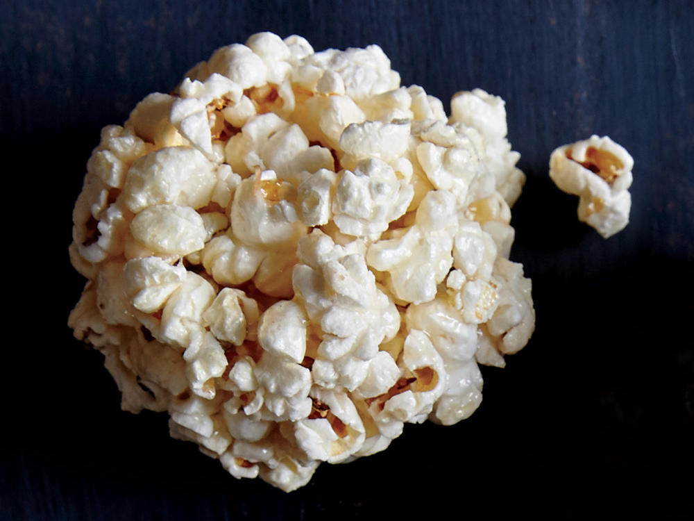 Guess what? This is a whole-grain dessert. To keep the ­stickiness at bay, wear latex gloves coated with cooking spray as you shape the popcorn balls.