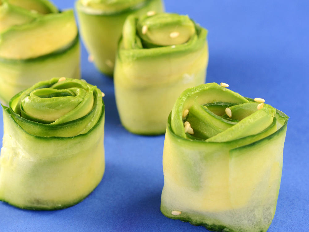 Cucumber and Avocado  Roses