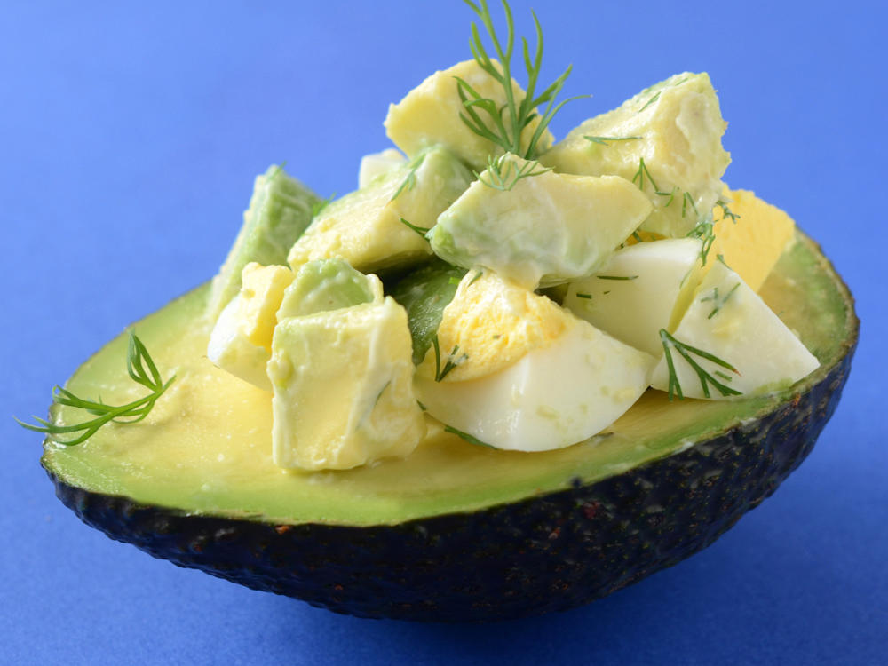 Easy Avocado Egg Salad Cup