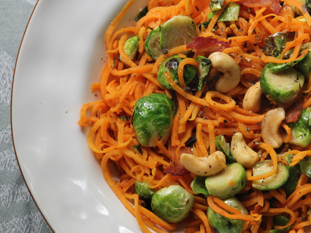Spiralized Sweet Potato Noodles