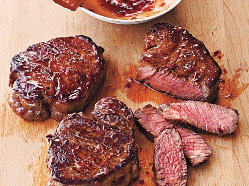 Lean beef tenderloin is a good candidate for broiling because it won't render much fat that could smoke or flare under the broiler.