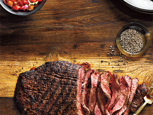 Spice-Rubbed Flank Steak with Fresh Salsa Recipe
