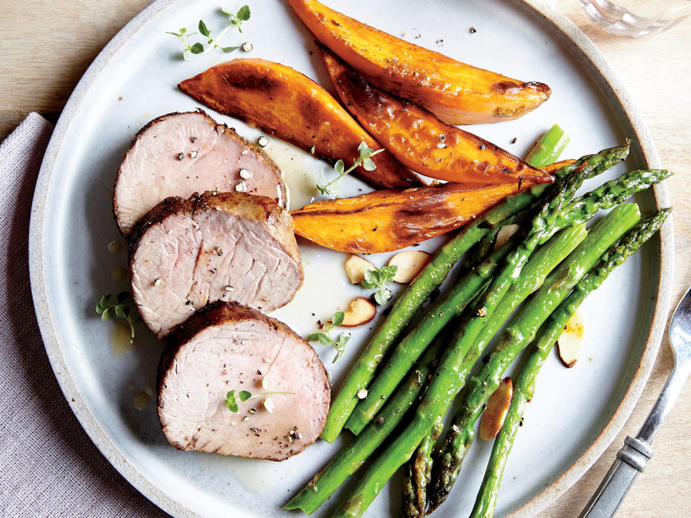 Paleo Smoky Pork Tenderloin with Roasted Sweet Potatoes
