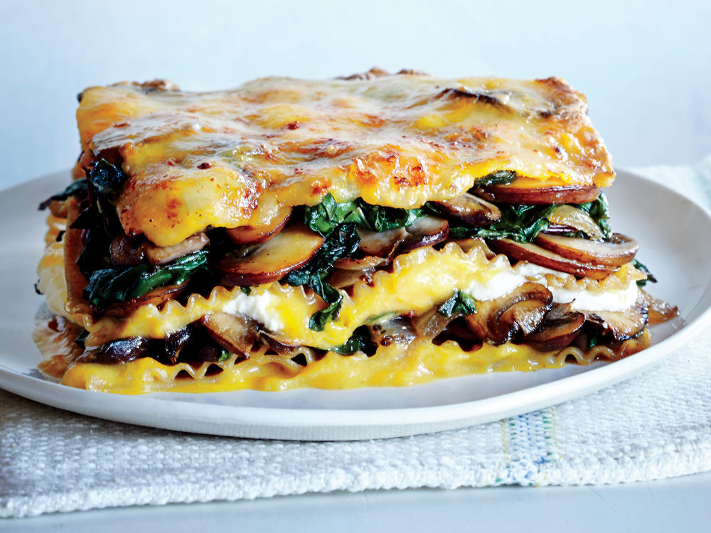 For a lighter take on this classic, we substitute hearty butternut squash for butter, which becomes velvety and creamy when blended with garlic and milk. Our saucy lasagna packs more than 2 cups of vegetables into each slice, is overflowing with melty cheese, and has half the calories of the original.