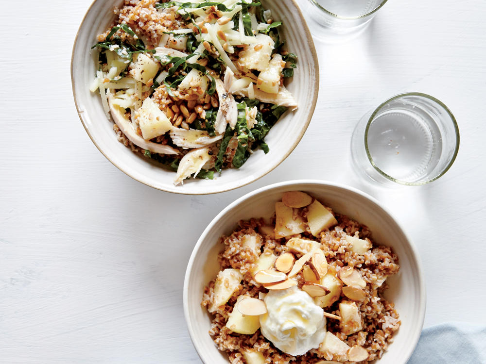 Healthy grain bowls cooking light overnight bulgur bowls forumfinder Image collections