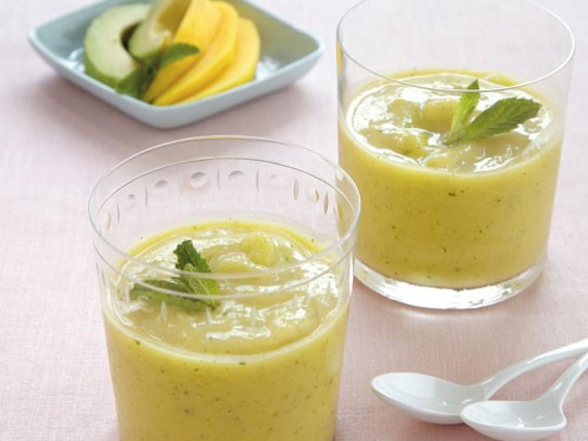 Creamy Mango, Avocado, and Lime Smoothie