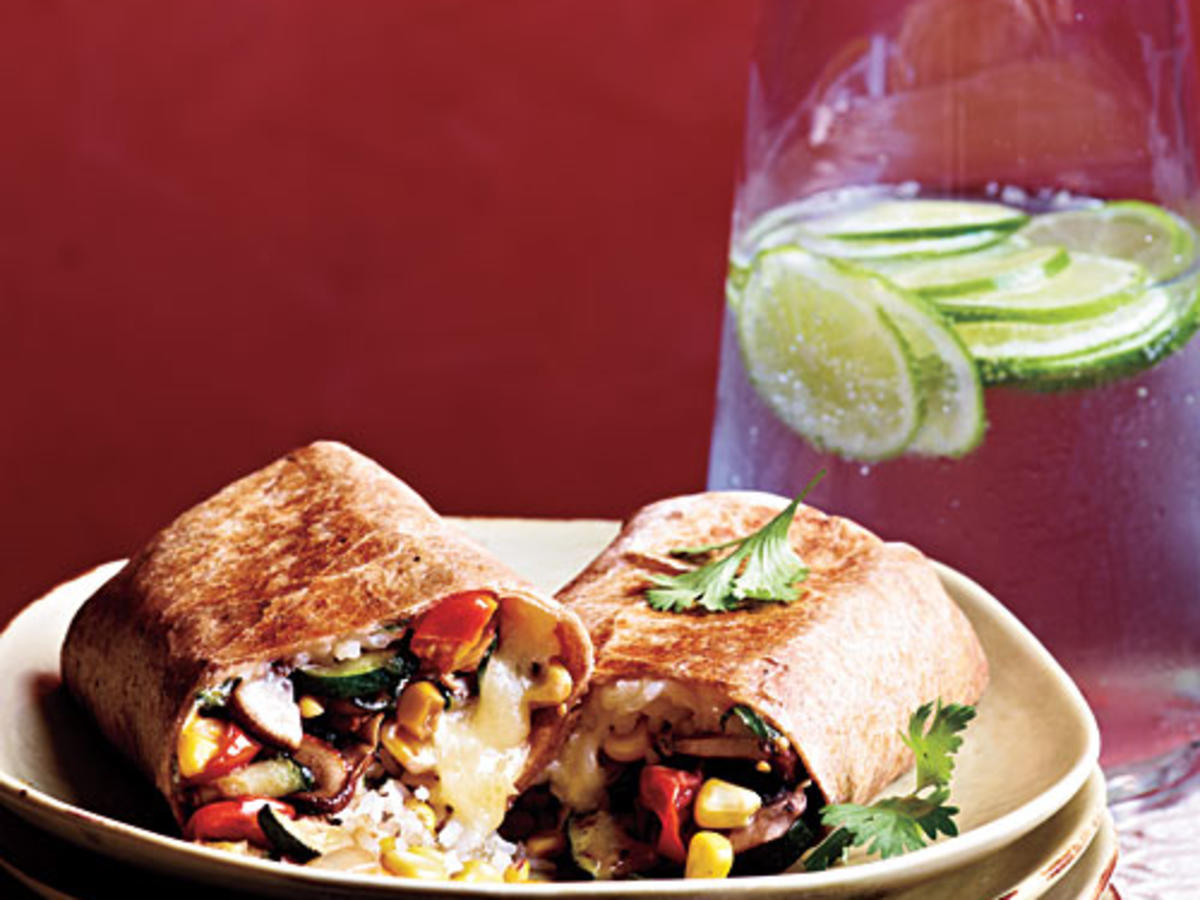 Vegetable and Rice Burritos with Quesadilla Cheese