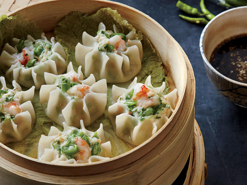 Shrimp and Snap Pea Shumai