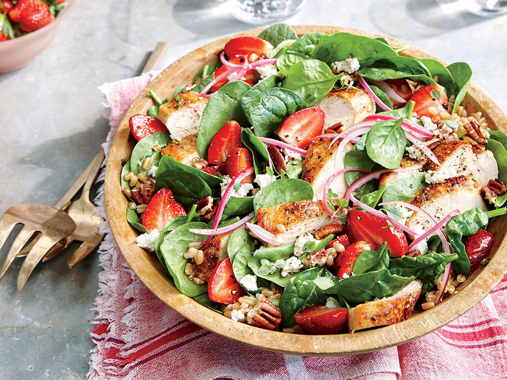 This main-dish salad features juicy strawberries at their seasonal peak.