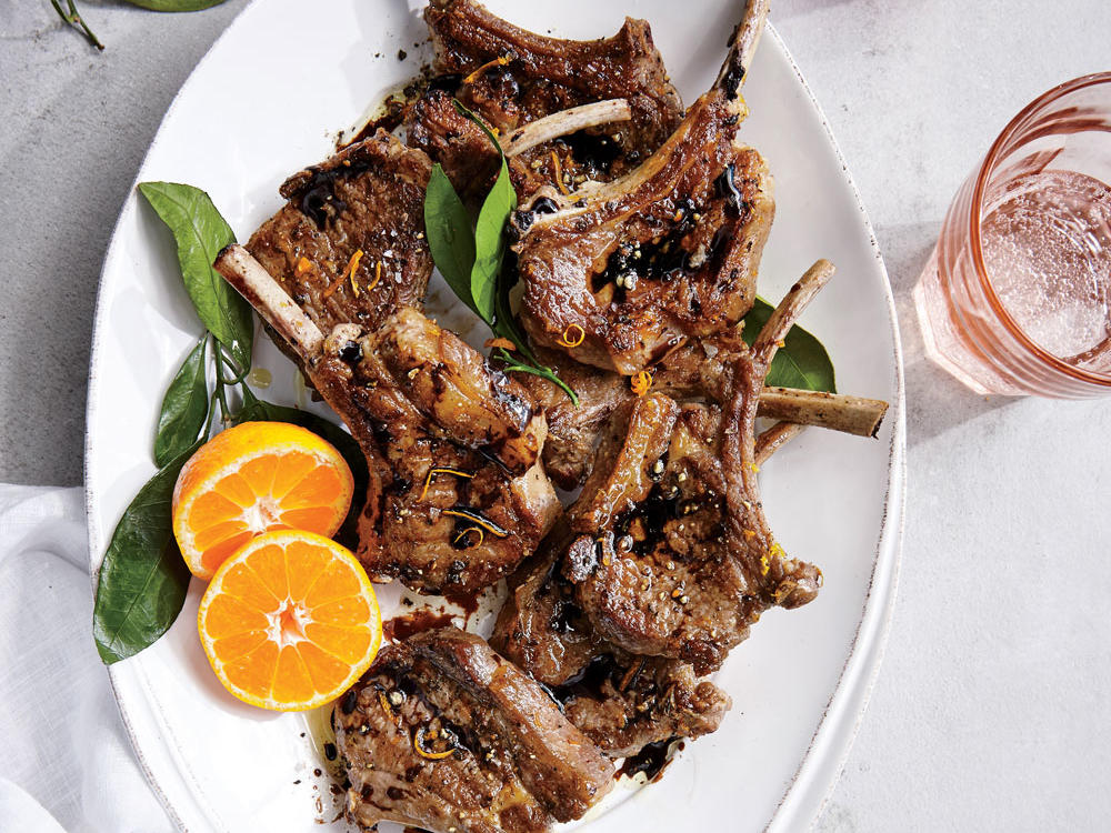 A simple citrus marinade plus a quick sear yields significantly more flavor than you might think. Of course, a finishing balsamic drizzle is always welcome.