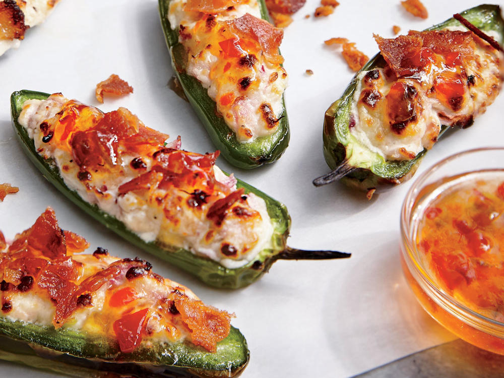 Bacon-Goat Cheese Jalapeño Poppers