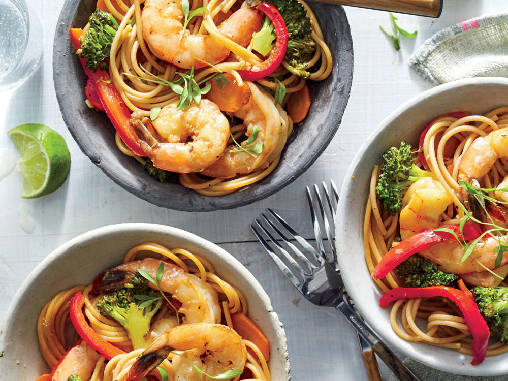 Asian noodle recipes cooking light shrimp lo mein forumfinder Image collections