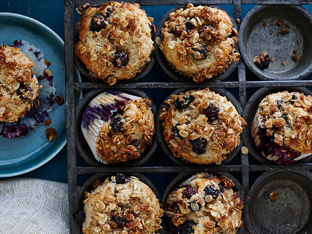 When our crumbly-crisp topping meets the light, fluffy belly of this muffin, you'll swoon.
