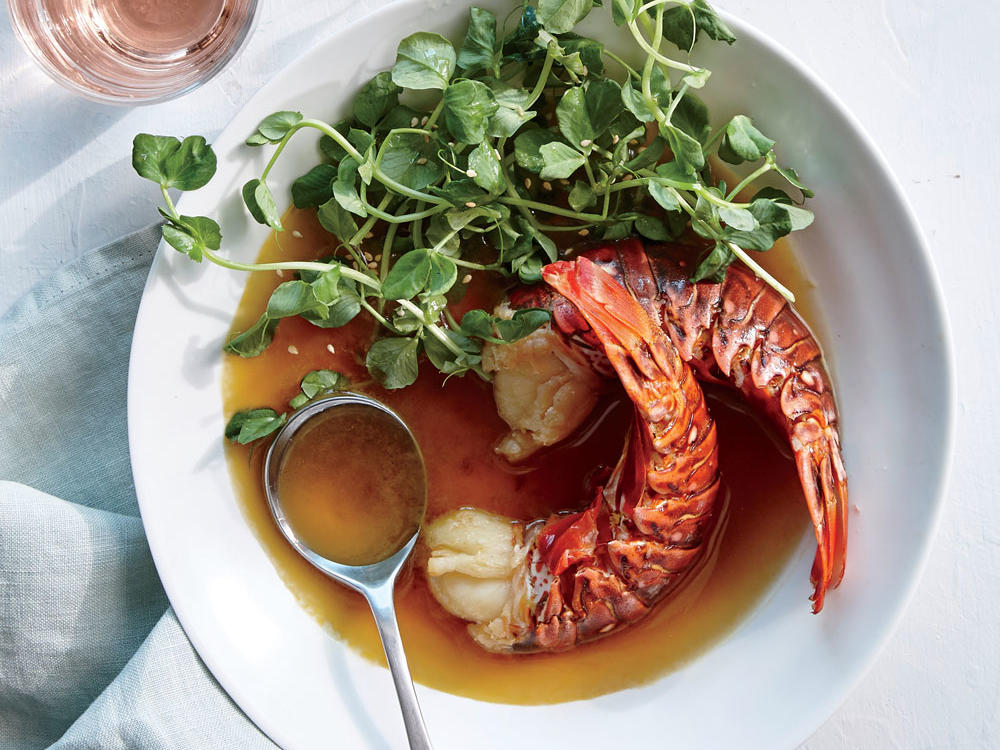 Poaching helps ensure fresh lobster stays soft and cooks to perfection. Simmer gently so the lobster stays supple.