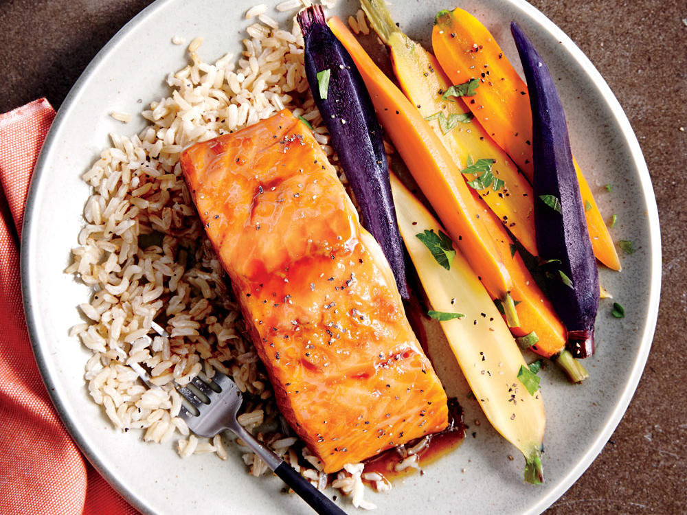 Honey-Ginger Glazed Salmon
