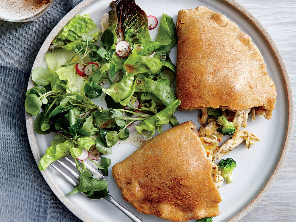 Third Meal: Broccoli, Cheddar, and Ranch Chicken Calzones