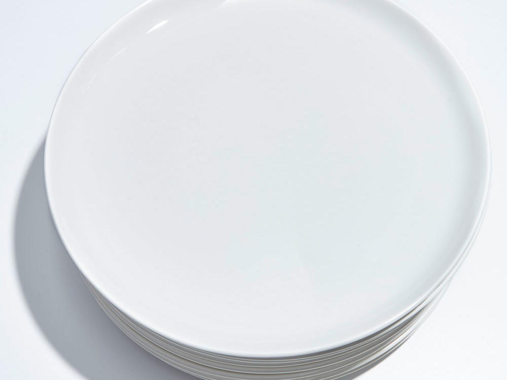 CB2 Contact White Dinner Plate