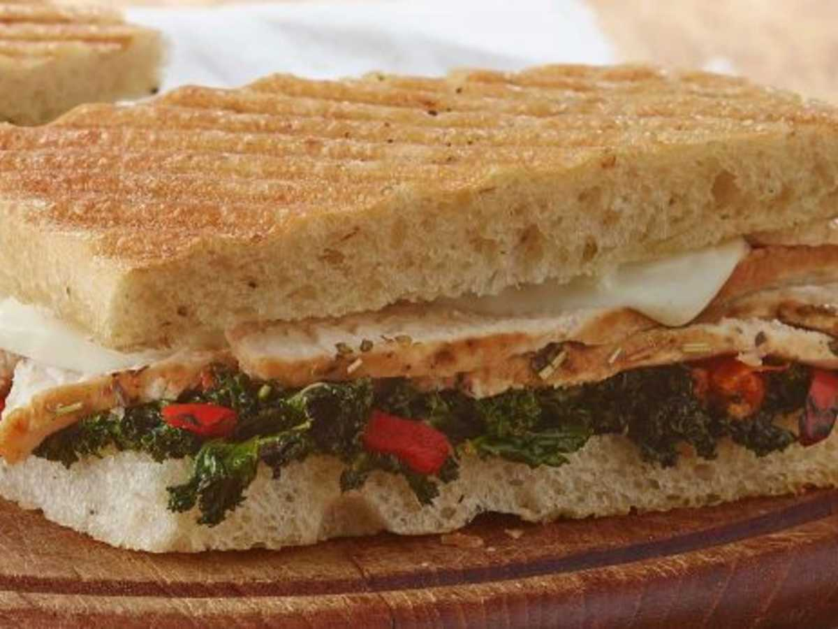 Panera Roasted Turkey Caramelized Kale Panini