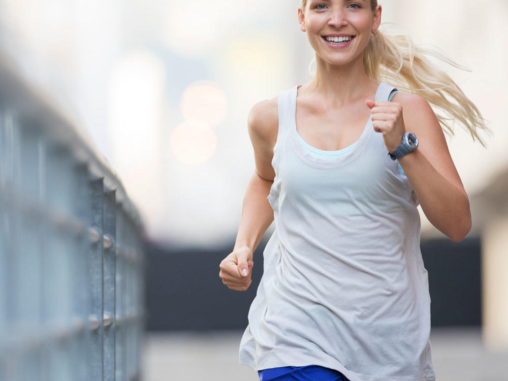 Hitting the treadmill (or the trails) during your lunch break is an efficient way to work essential cardio into your daily routine. To maximize your fitness gains, try a short but intense workout, such as a fartlek. Make sure to leave enough time to stretch afterwards, especially if you're returning to an office chair.