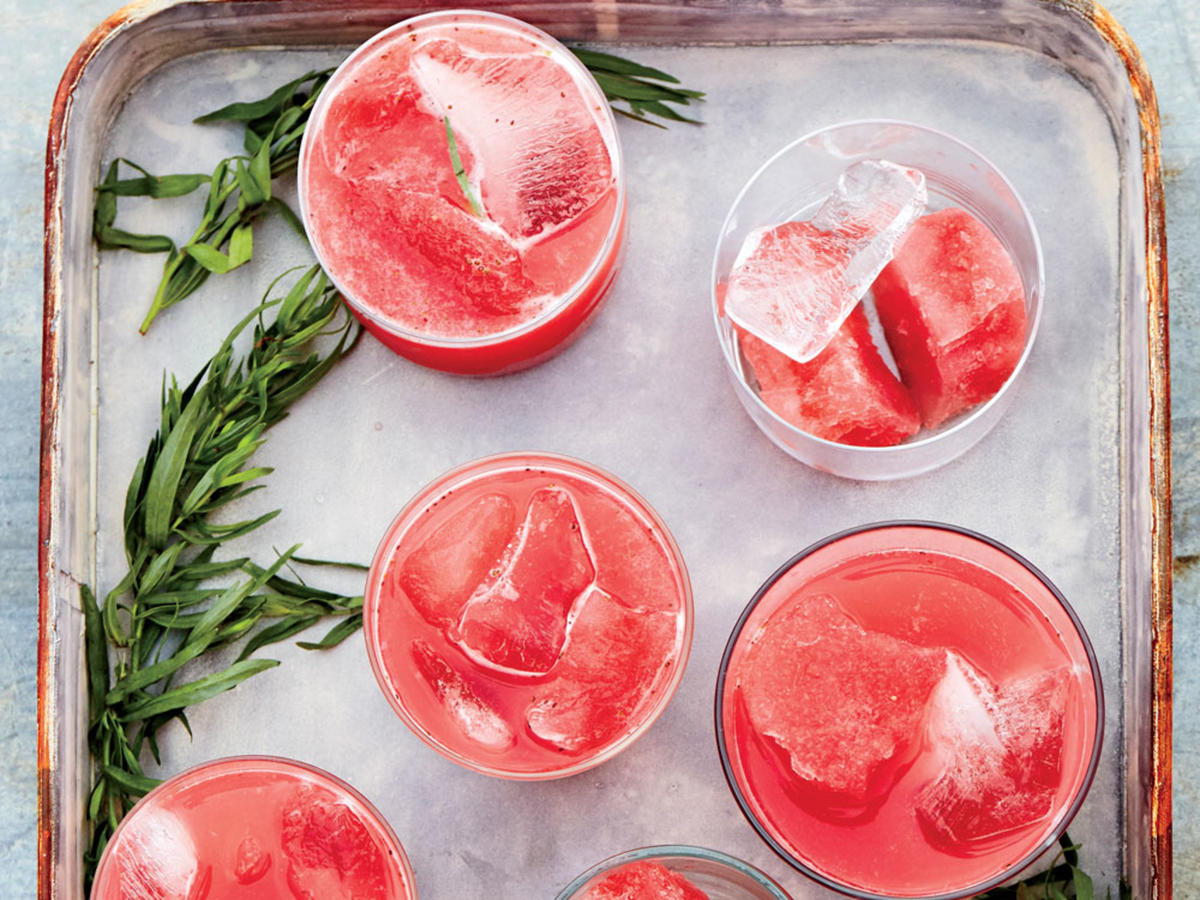 Mike DeCamp's Strawberry and Watermelon Punch with Lime and Tarragon